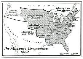 Missouri Compromise Map