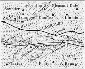 Rush County, Kansas Map, 1889