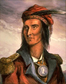 Shawnee Chief Tecumseh