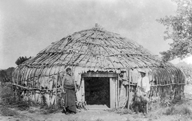 A Kanza Indian bark house.