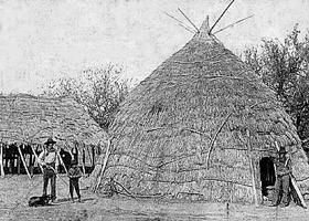 Wichita Indian Straw Hut