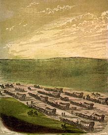 Emigrants crossing the Great American Desert