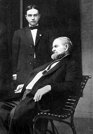 Peter Percival Elder seated