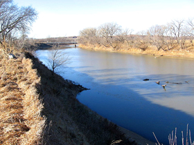 Big Blue River above Manhattan, Kansas