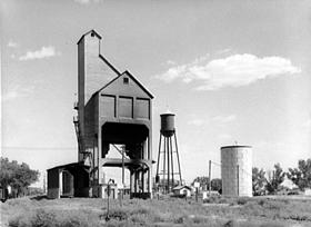 Coaling station in western Kansas