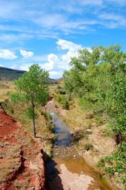 Dry Cimarron River in New Mexico