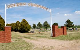 Golden Cemetery in Grant County, Kansas