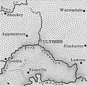 Grant County, Kansas Map, 1899