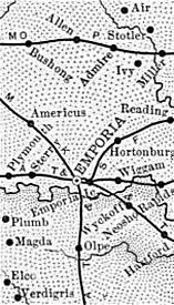 Lyon County, Kansas Map, 1899
