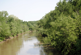 Marais des Cygnes River west of La Cygne, Kansas