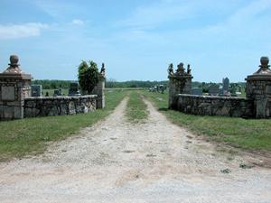 The Oakwood Cemetery near Centerville, Kansas.