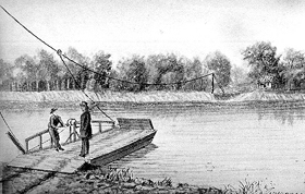 Pappan's Ferry, Topeka, Kansas, 1857