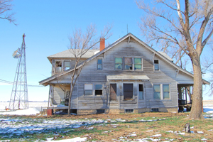 An old and abandoned homestead in Pawnee County, Kansas