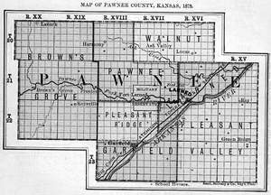 Pawnee County Historic Map.