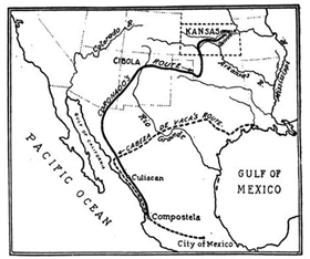 Map of Quivira Expeditions