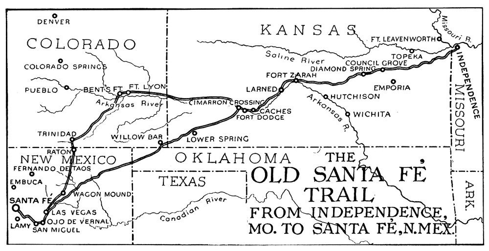 Santa Fe Trail Through Kansas