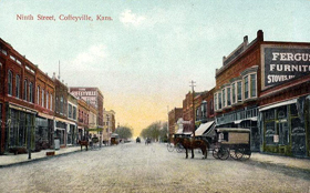9th Street in Coffeyville, 1908.