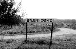 Diamond Springs, Kansas Sign