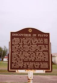 Discoverer of Pluto Historic Marker