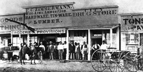 Dodge City Front Street in 1875.