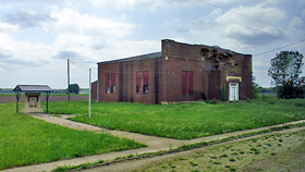 Old gymnasium in Dunlap, Kansas
