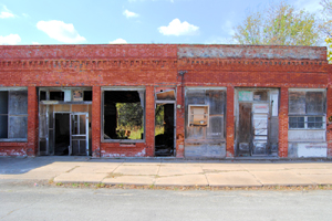 Old buildings in Elk City, Kansas