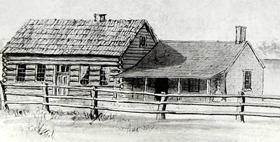 Lecompton Democratic Headquarters, 1877