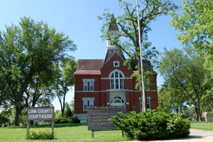 The Linn County Courthouse in Mound City, Kansas