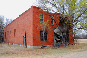 An old building in Nekoma, Kansas
