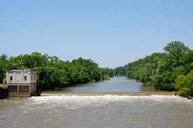 Neosho River and power house at Neosho Falls