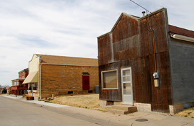A street in old Herzog, Kansas