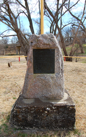 Railroader memorial in Victoria, Kansas