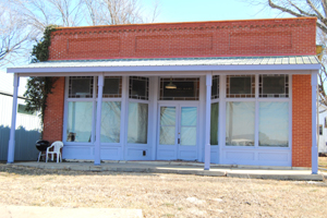 An old business building in Vinland, Kansas