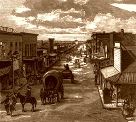 Old West Cattle Town