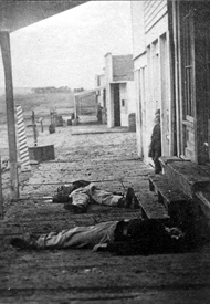 Two dead soldiers in Hays, kansas, 1873