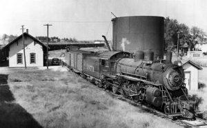 Atchison, Topeka & Santa Fe Railroad in Alma, Kansas.