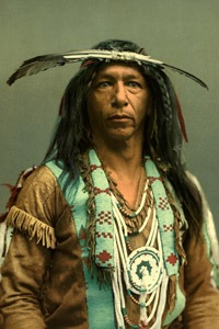 Arrowmaker an Ojibwa/Chippewa brave by the Detroit Photographic Company, 1903.