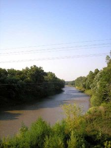 Big Blue River near Marysville, Kansas by Kathy Weiser-Alexander.-
