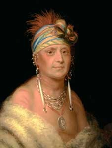 Kanza Chief White Plume by Charles Bird King about 1822.