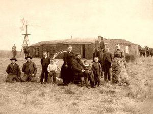 Homestead on the prairie.