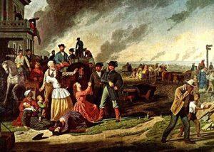 Evacuation of Missouri Counties under General Order No. 11, painting by George Caleb Bingham, 1870.