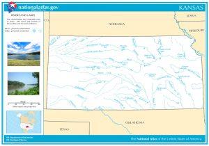 Kansas Rivers & Lakes Map