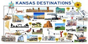 Kansas Destinations Map