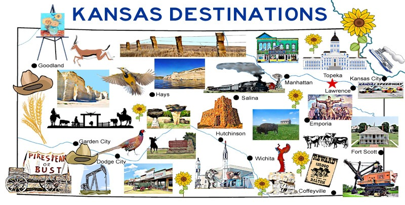 Kansas Destinations Map