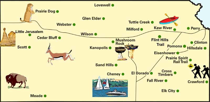 Kansas State Parks Map