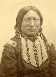 Kiowa Chief Kicking Bird by William S. Soule, about 1872.