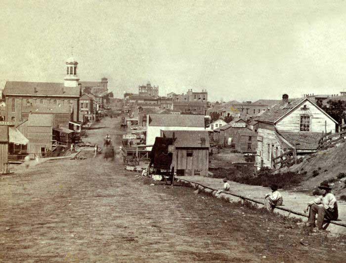 Early Day Leavenworth Kansas by Alexander Gardner, 1867.
