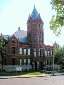 This historic 1891 Marshall County Courthouse now serves as a museum in Marysville, Kansas by Kathy Weiser-Alexander.
