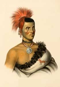 Pawnee Chief Pes-ke-le-cha-co by Charles Bird King, 1841.