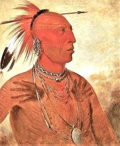 Pawnee Indian by George Catlin.